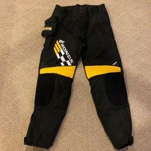 Honda Motorcycle Pants Yellow & black. Sz36
